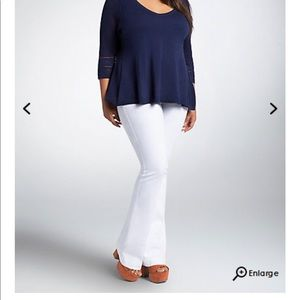 28b016c9837c torrid Jeans - Torrid Flared Jeans (White Wash) - Sz 14
